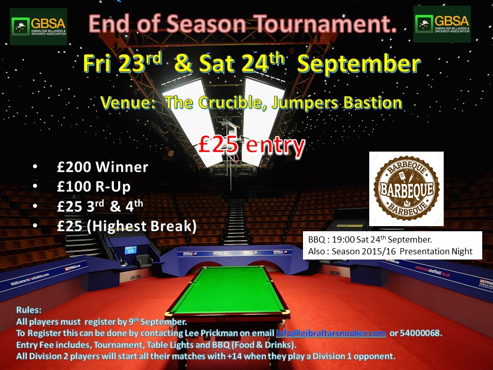 September 23 & 24th end of Season comp poster
